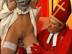 Nuns fucked with a crystal dildo