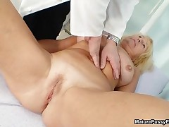 Horny Doctor Inspects A Mature Mom Her Pink Pussy By MaturePussyExams