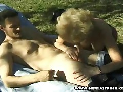 Horny Granny Takes It From Behind