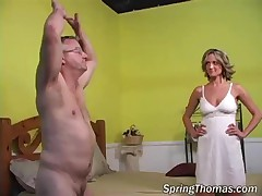 Spring Thomas - Cuckold Eats Some Cum