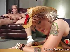 Candy Monroe - Cowgirl Riding The Black Bull