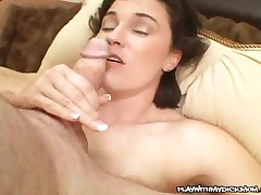 Stephanie Swallows - Hot MILF Swallowing A Hot Load