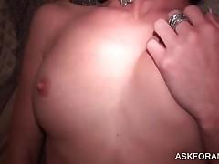 Horny Brunette Slut Gets Banged Hard In Bedroom