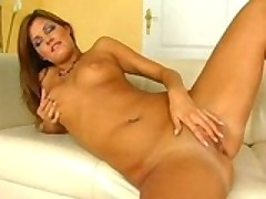Brunette Slut Plays Alone