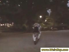 Two Japan Schoolgirl Masturbate On A Bike