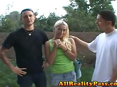 Jessica Woods - XXX Proposal - GF Bangs Dude In Front Of BF
