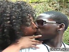 Black Girl Is Teasing Her Guy In The Outdoor By ClubWestCoast