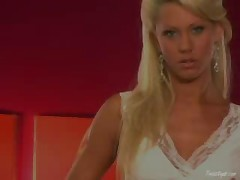 Tanya James - Thin Blonde Tanned And Spread