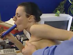 Secretary gets it in the office