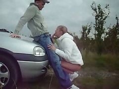 Hot Blonde Outdoor Deep Throat
