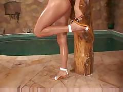 Italian Pornstar Gives a Hot Foot Job