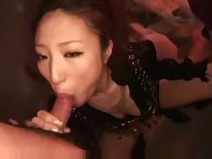 Asian stripper sucks guys cock