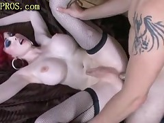 Tranny With Bigtits And Stocking Gets Fuck
