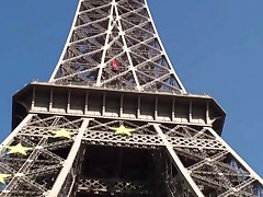 Eiffel Tower Risky Public Threesome Sex, AWESOME!
