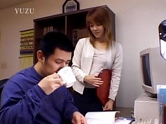 Asian Secretary Giving Blowjob In The Office