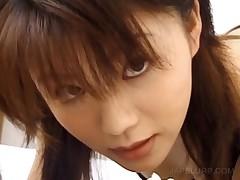 Curious Asian Teen Cutie Tasting Hard Penis In Close-up