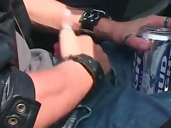 Kinky Female Cop In Uniform And Latex Molesting A Guy