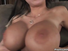 Danielle Derek - Amazing Huge Silicon Tits Danielle Derek Giving A Head And Getting Mouthful
