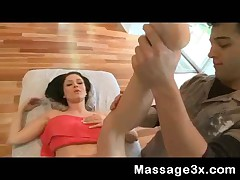 Ally Style - Sexy Brunette Teen Gets Oily Massage And Hard Sex Fuck