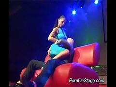 Stripper Babe Does Hard Blowjob Sex On The Stage Deep