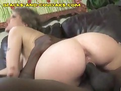 Cougar Lets Both Of Black Studs Give Her DP