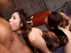 Amber Rayne Threesome with Asian Guys