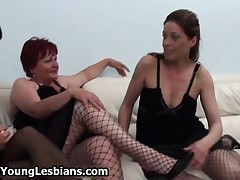 Old Lesbian Redhead Fucking With Two Hot Lesbian Teen Girls By OldNYoungLesbians