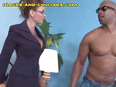 Hung Black Has To Strip For His Boss Wife