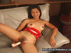 Beautiful Asian Dildoing While Jerking A Hard Cock 3 By RealAsianAmateur