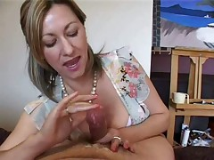 The best of femdom handjob