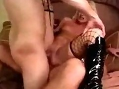 She Gets Brutalized Unconnected with 2 Cocks