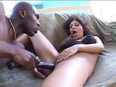 Sativa Rose Bounces On Gigantic Dark Penis
