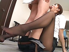 Asian secretary gets fucked