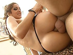 Jenna Haze gets her oiled sexy ass pounded. Lingerie.