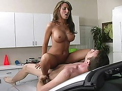 Lezley Zen gets done on a car hood