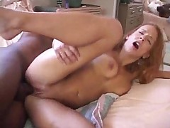Redhead housewife loving black cock