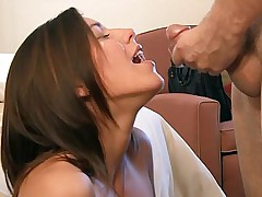 19 yo rebellious Mormon girl takes facial cumshot