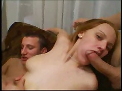 Foursome with a redhead