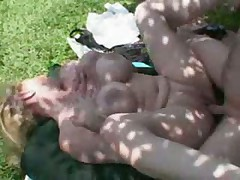 Big titted mature lady fucking young stud