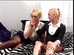 Hot MILF and Young Teen