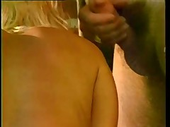 Sensual Blond In Stockings Fucked From Both Ends