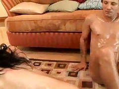 Rebeca Linares oiled up