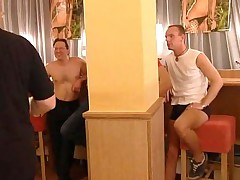 Sweaty amateur sex orgy