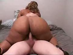 Blonde ebony hard fucked