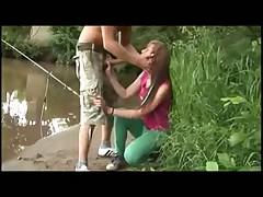 Teen Couple Outdoors