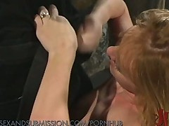 Girl gets roughed up and wet