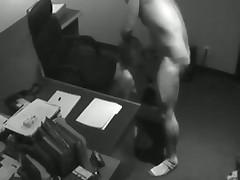 Hidden Cam Catches After Hours Suckjob
