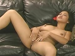 Passionate Oriental Babe Masturbation Video