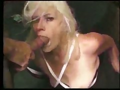 Old blonde nympho whore
