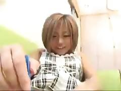 Yuu Aine shaved woman